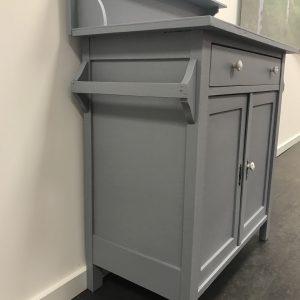 Vintage grijs dressoir met opzetstuk H114 x B80 x D42 foto 2